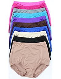 12 Pairs: Plus Size High-waisted Panties