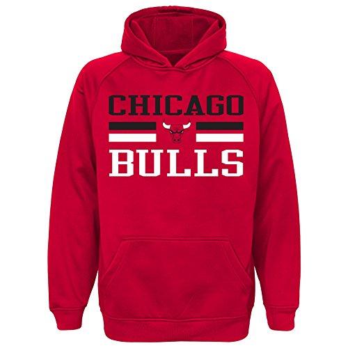 NBA Youth 8-20 Bulls performance hood, M(10-12), Red