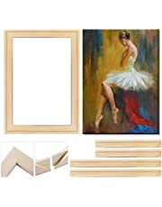 DIY Wood Canvas Frames, Solid Wooden Stretcher Bars for Oil Paintings Poster Prints, Canvas Tools Arts Accessory Materials, Easy to Assemble Canvas Frame System