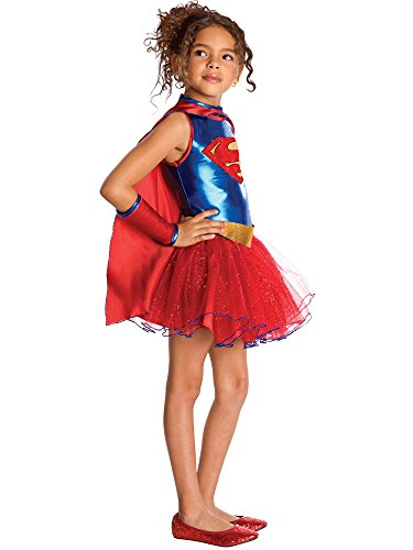 DC Comics Supergirl Tutu Toddler/Kids Costume, Medium (Supergirl Tutu Kids Costumes)