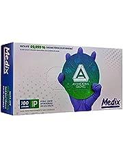 Luva Descartável Nitrílica Azul Violeta Antimicrobiana Medix