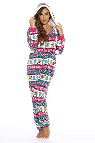 6291-S Just Love Adult Onesie / Pajamas, Moose Love (Plush), Small