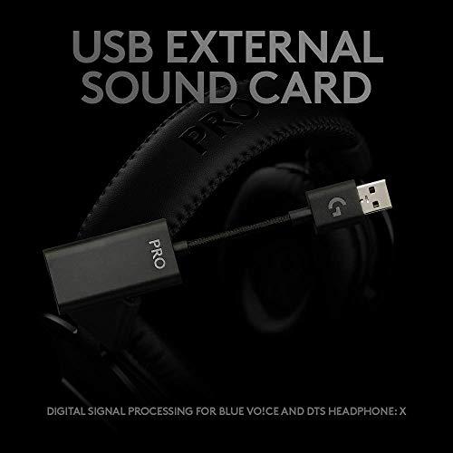 Headset Gamer Logitech G PRO X com Design Confortável e Durável e Drivers PRO-G 50mm