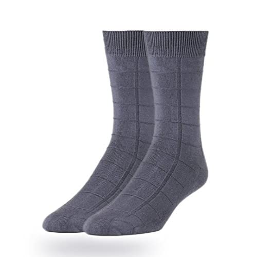 Cheap ComfortNFashion Modal Super Soft Flat/Ribbed/Designed Knit Men's Dress Crew Socks (2 Per Pack) free shipping