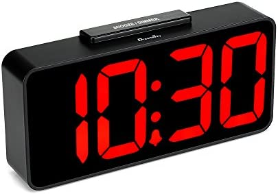 DreamSky Auto Time Set Alarm Clock with USB Port for