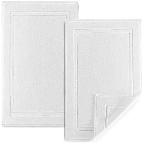 Alibi Bath Mat Floor Towel Set | 2 Pack of Super Soft & Absorbent Luxury Cotton Towels | Hotel, Spa, Shower & Bathroom…