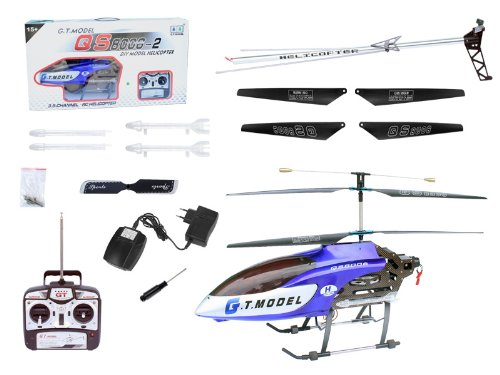 53 Inch Extra Large Gt Qs8006 2 Speed 3 5 Ch Rc Helicopter Builtin Gyro Blue By Avatar