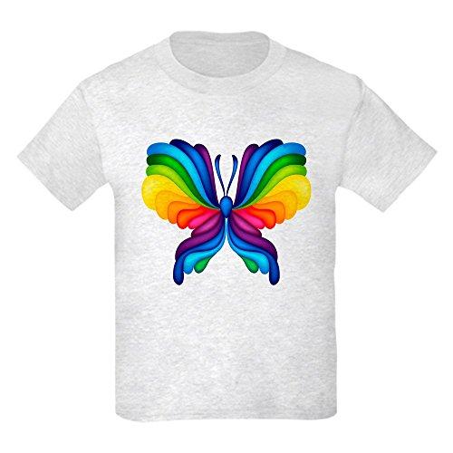 Truly Teague Kids Light T-Shirt Rainbow Butterfly - Ash Grey, Medium