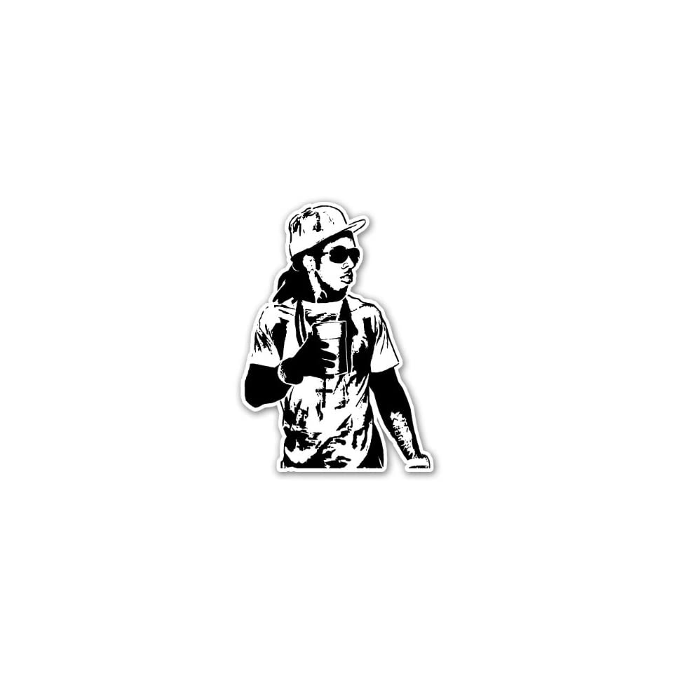 """Lil Wayne BW Young Money Cash Money YMCMB Car Sticker Decal Phone Small 3"""""""