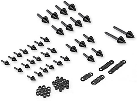 1999 2000 2001 2002 2003 2004 2005 2006 2007 GSXR Hayabusa 1300R Complete Black Fairings Bolts Screws Fasteners Kit Set Made in USA