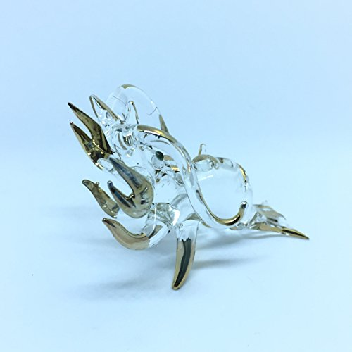 Lobster shrimp Glass Blown Wild Crystal 22k Gold Home and Decor Handmade 100% collectibles Set Show Doll House Miniature Made In Thailand