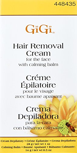 Amazon.com : Gigi Hair Removal Cream for The Face with Calming Balm (4 pack) : Beauty