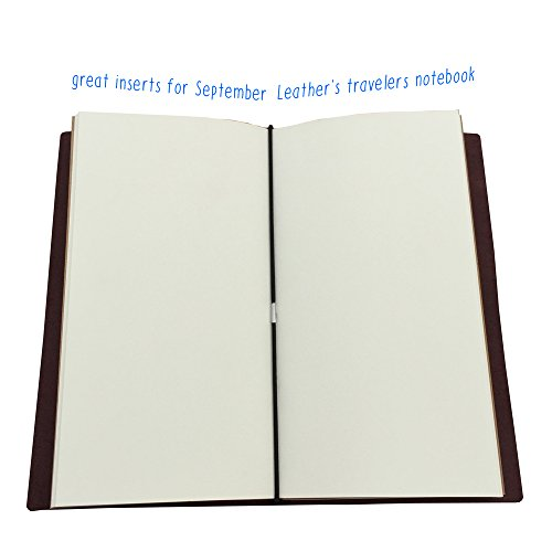 (Set of 3) Travelers Notebook Refills, Mixed 192 Pages of Lined, Blank, Grid Paper, 8.25 x 4.25 In