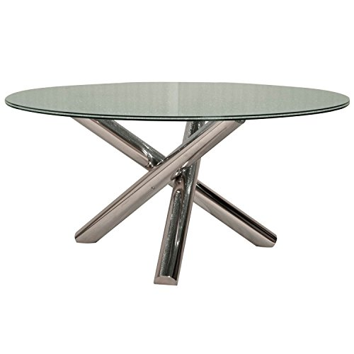 Gotham Dining Table Base, Stainless (A Star Furniture)