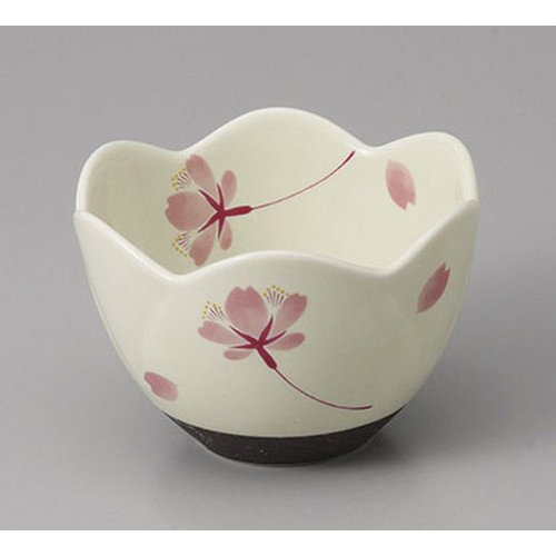 [mkd-95-33-93e] Oda-yaki cherry-blossom dance small dress [8.5 x 5.6 cm] Ryotei Ryokan Japanese-style machine for eating and drinking establishment
