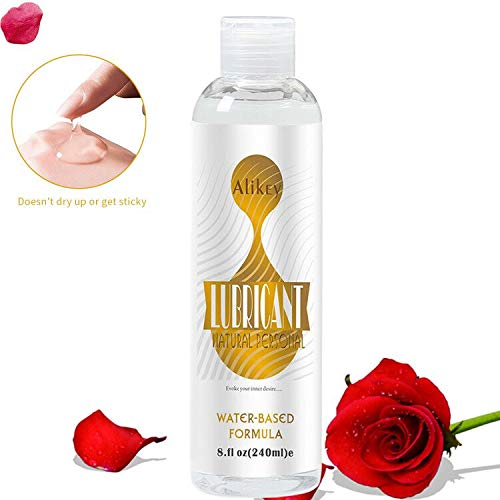 Lube for Women Men Sex, 8 OZ Natural Personal Lubricants Water-Based Super Slick Long Lasting,Hypoallergenic,Premium Sex Lube Lubricant for Men Couple (Gold)