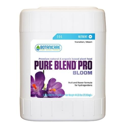 Botanicare PURE BLEND PRO Bloom Soil Nutrient 2-3-5 Formula, 5-Gallon