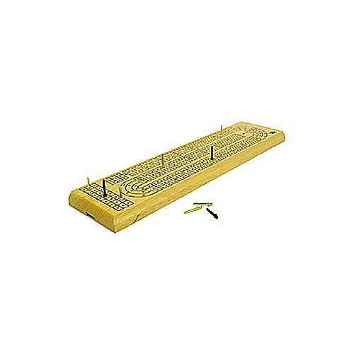Classics 3 Track Cribbage Board Game, One Color