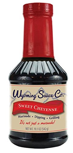 Wyoming Sauce Co Premium Sweet Cheyenne Marinade, Great for Beef BBQ, Steaks, Poultry, Pork, Seafood, Turkey, Fish and More, Unique Gourmet Marinades Taste, Single Bottle of (Fish Steak Sauce)