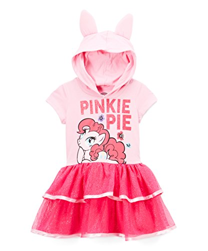 (My Little Pony Pinkie Pie Toddler Girls' Costume Ruffle Dress, Light Pink,)