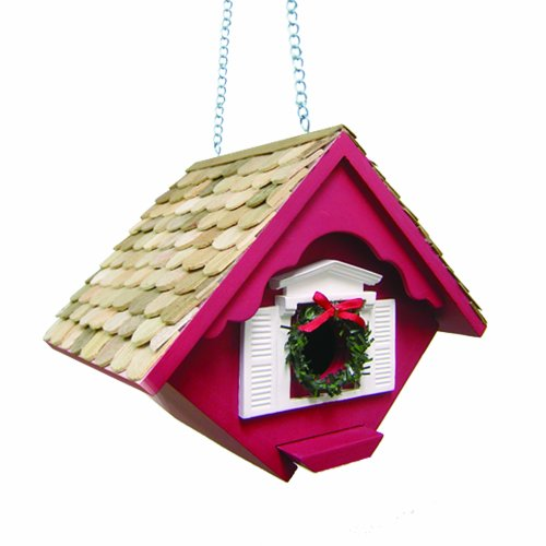 Home Bazaar Christmas Wren Bird Cottage, Red