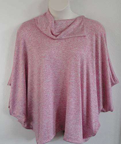 Opening Post Surgery Shirt/Sweater- Shoulder- Mastectomy - Breast Cancer/Adaptive Clothing- Hospice, Seniors/Rehab -Style Emily (Pink Heather) ()