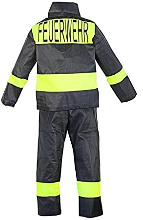 Disfraz de bomberos Niños Bomberos Casco Pantalones Chaqueta ...