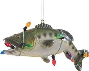 Amazon.com: Holiday Bass Fish Christmas Ornament: Home ...