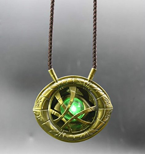Gmasking 2017 Metal Necklace - Eye of Agamotto Light-up Costume Pendant Exclusive 1:1 Props