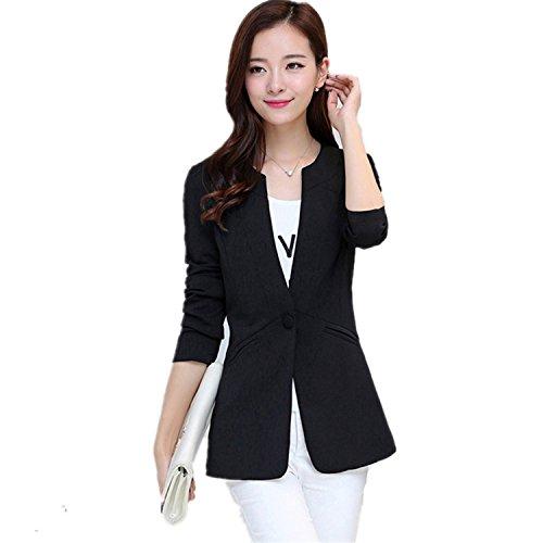 David Salc Autumn Women Blazer Coat Elegant Suit Jacket Outwear Long Jackets Coat 5XL Tops Navy BlueL