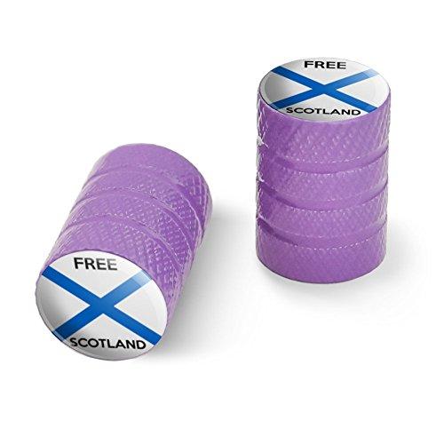オートバイ自転車バイクタイヤリムホイールアルミバルブステムキャップ - パープル無料スコットランドスコットランド独立党