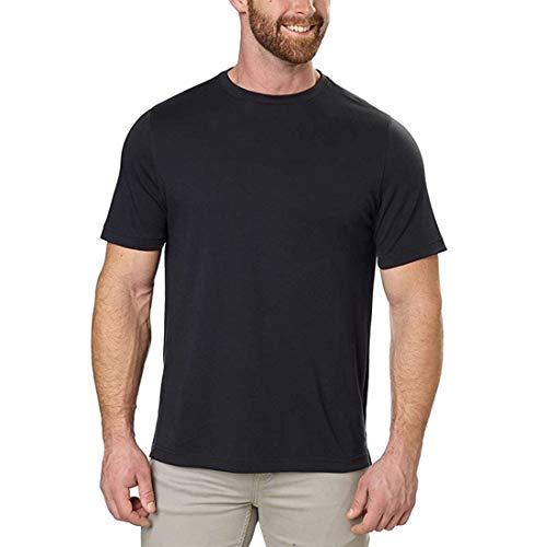 Kirkland Signature Men's Cotton Classic Tee Shirt (XX-Large, Black)