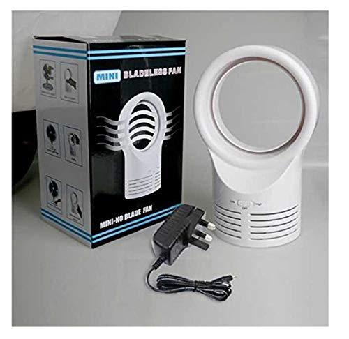 Wanrane Happy Deocation - Ventilador pequeño Creativo sin aspas para Dormir, refrigeración eléctrica, Ventilador de Aire...