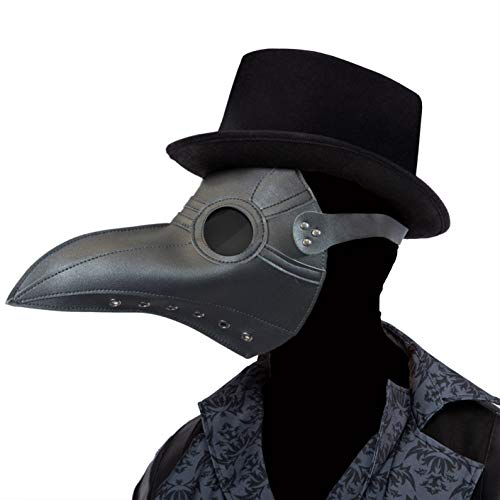 Spooktacular Creations Gothic Plague Doctor Crow Mask Props Cosplay Steampunk Raven Costume w/Long Nose Beak Bird Accessories