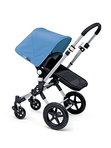Bugaboo 2015 Cameleon3 Stroller Complete Set in Aluminum and Black with Ice Blue Tailored Fabric Set
