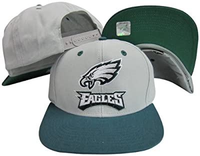 Reebok Philadelphia Eagles Word Grey/Green Two Tone Plastic Snapback Adjustable Plastic Snap Back Hat/Cap
