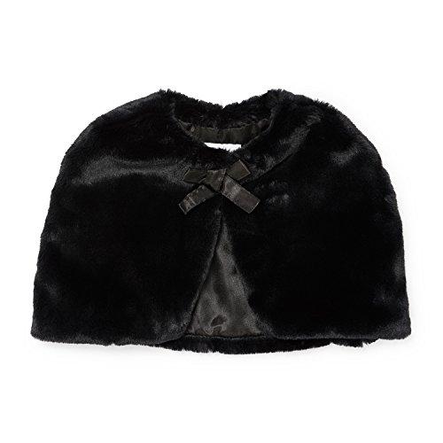 The Children's Place Big Girls Faux Fur Cape, Black, XL (14) by The Children's Place (Image #1)