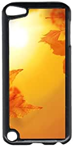 Autumn Fall Colors Leaves Black Plastic Decorative iPod iTouch 5th Generation Case
