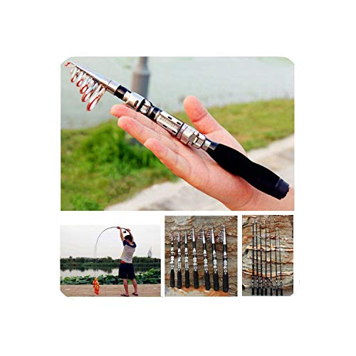Super Hard Mini Fishing Rod 1M 2.3M Frp Ice Fishing Rod Rivers and Lakes Fishing Equipment Practical Tool,2.1 M ()