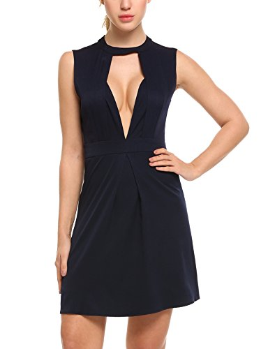 ANGVNS Womens Sheer Strappy Bodycon