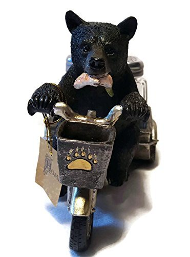 Bear on a Tricycle Salt and Pepper Shaker Holder