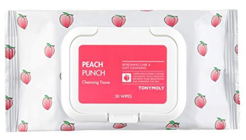 TONYMOLY Peach Punch Cleansing Tissue, 6.9 Oz.
