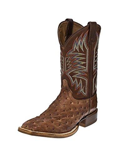 Justin Mens Exotic CPX Square Toe Tan Boots 11D - Justin Mens Ranch