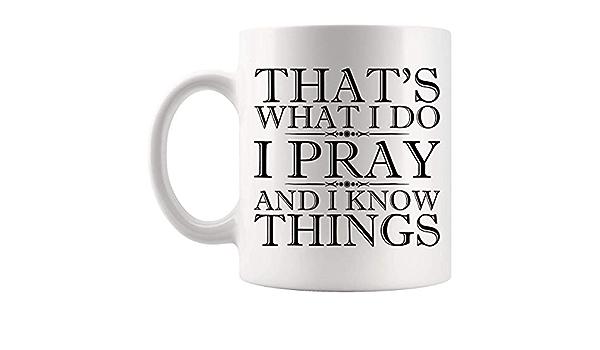 N\A Oraciones Dioses Jesús - Orar Orando Taza 11Oz Taza ...