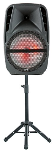 "QFX PBX-61161 15"" Portable Party Speaker with Wireless Microphone & Stand"