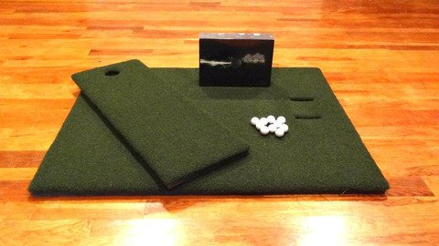 LEFT handed OPTISHOT Home Virtual Golf Simulator ULTI MAT COMBO