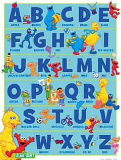 sesame street wall posters