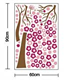 Hunnt® Wall-stickers Wall Decor Removable Decal Sticker - Giant Cherry Blossom Tree in Wind