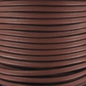 Cord/ón de cuero 4 mm Chocolate x1 m