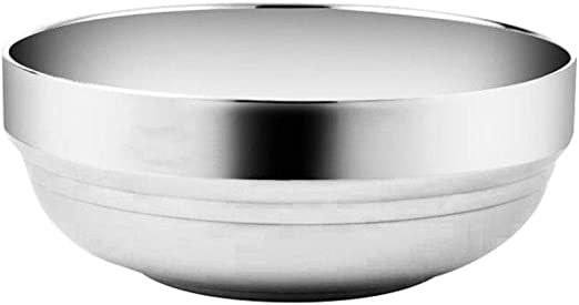 Stainless Steel Rice Bowl Soup Bowl Noodle Bowl Insulated Bowl Home Tableware